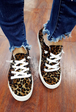 Leopard Babe Print Skin Sneakers