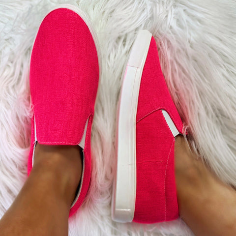 Seaside Neon Fuchsia Sneakers