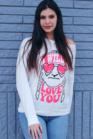 I Willie Love You Valentine's Top White
