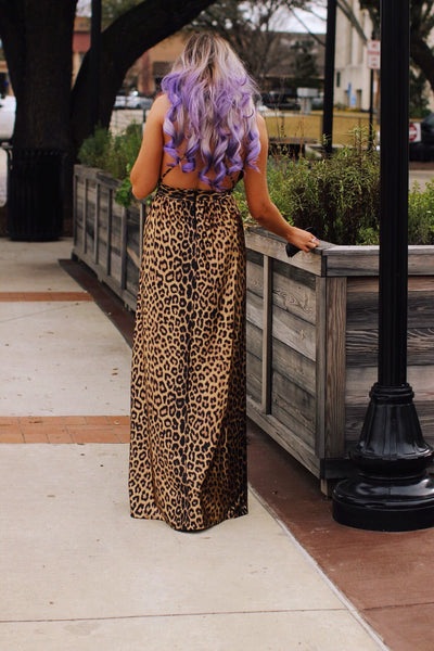 Leopard Cocktail Maxi Dress