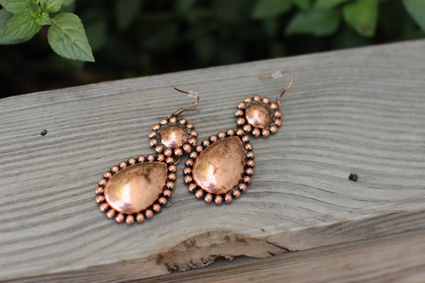 Kathy Rose Gold Teardrop Earrings