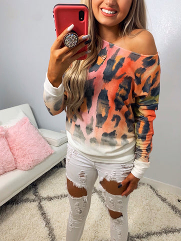 Stay Close Leopard Sublimation Multicolored Top