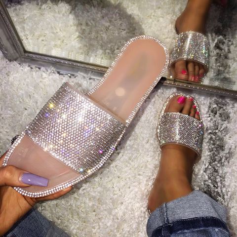 Jewell Blush Rhinestone Sandals