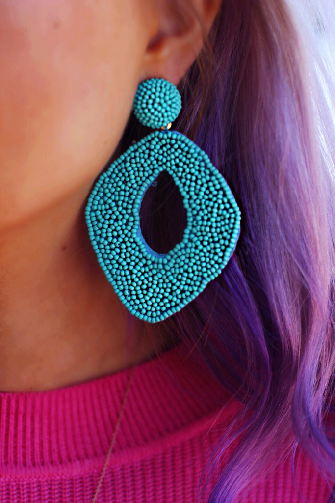 Abby Turquoise Handmade Statement Earrings