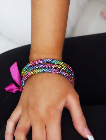 Ramsey Rainbow Multicolor Crystal Bracelet Set