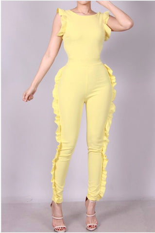 LEMON DROP RUFFLE JUMPER