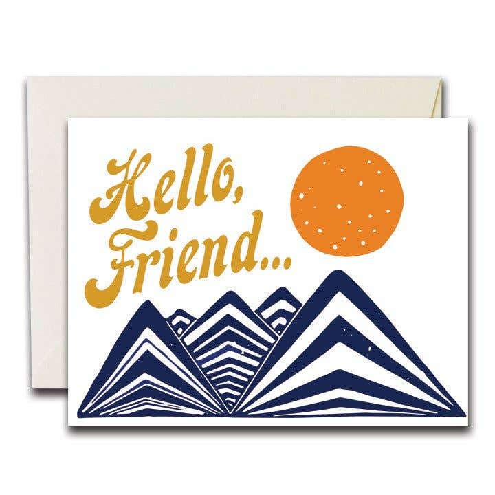Native Bear - Hello Friend Card