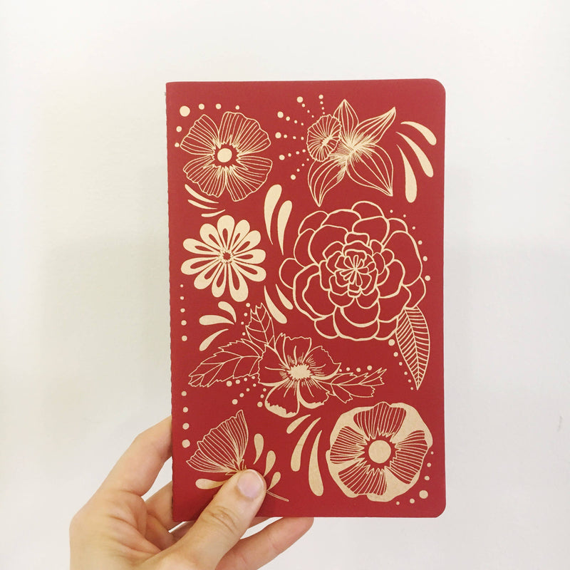 The Rainbow Vision - Flower Power Notebook