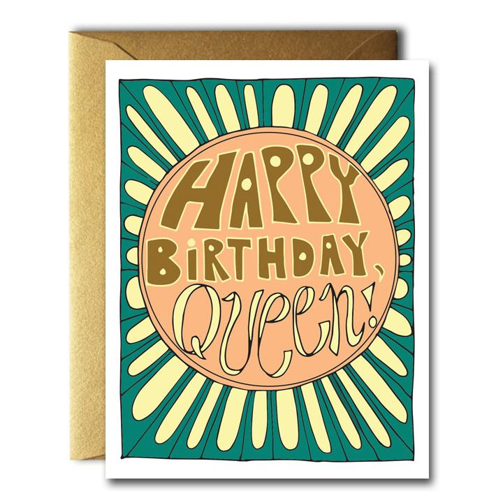 Native Bear - HBD Queen Card