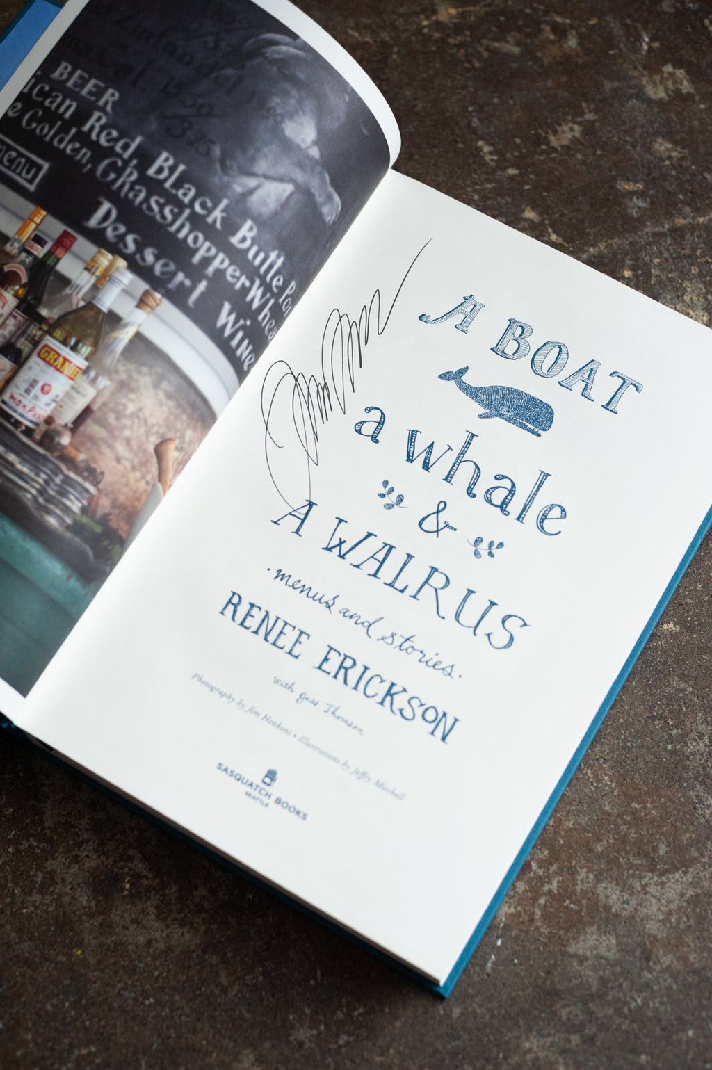 A Boat, A Whale & A Walrus Cookbook - Signed Copy