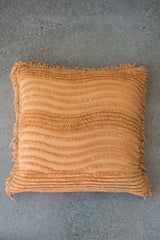 Plush Waves Pillow Cover - Camel