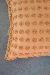 Chenille Dots Pillow Cover - Camel I