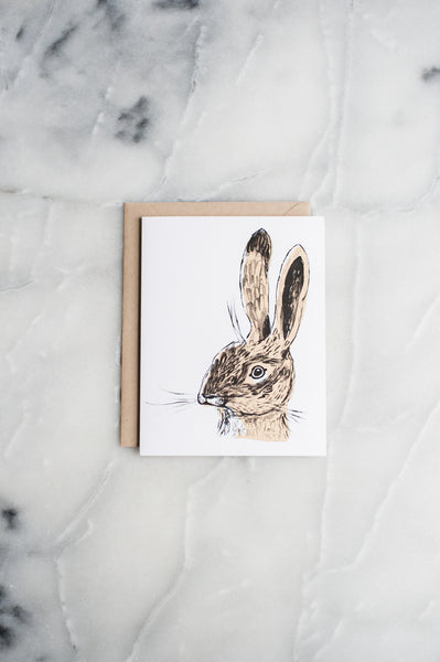 Brown Rabbit Card
