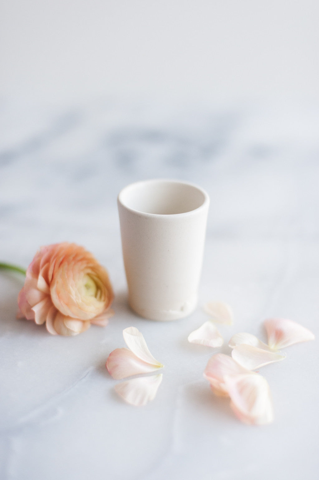 Mini White Tumbler by Beanpole Pottery