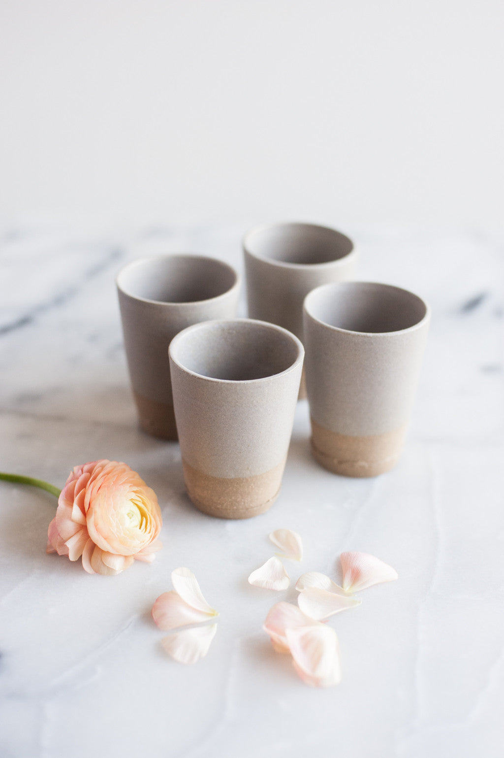 Small Gray Matte Tumbler by Beanpole Pottery