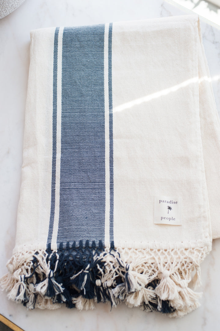 Paradise People Grain Stripe Blanket