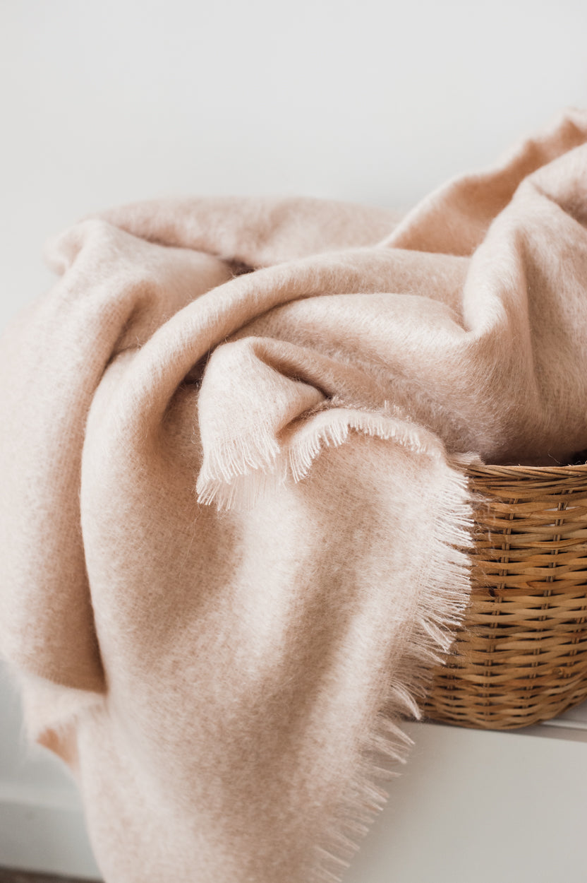 Mohair Throw - Rosé