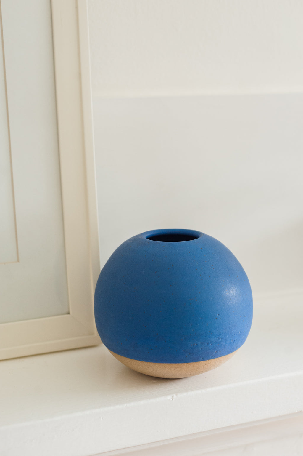 Cerulean Blue Vase by M. Bueno