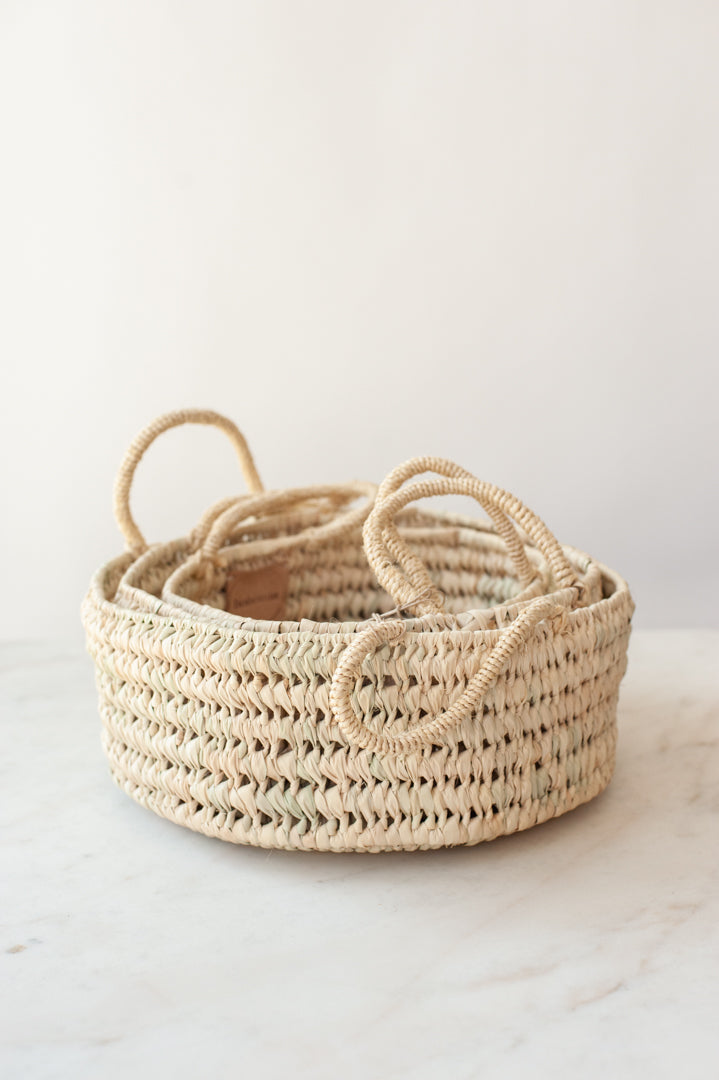 Round Storage Baskets - Set of 3