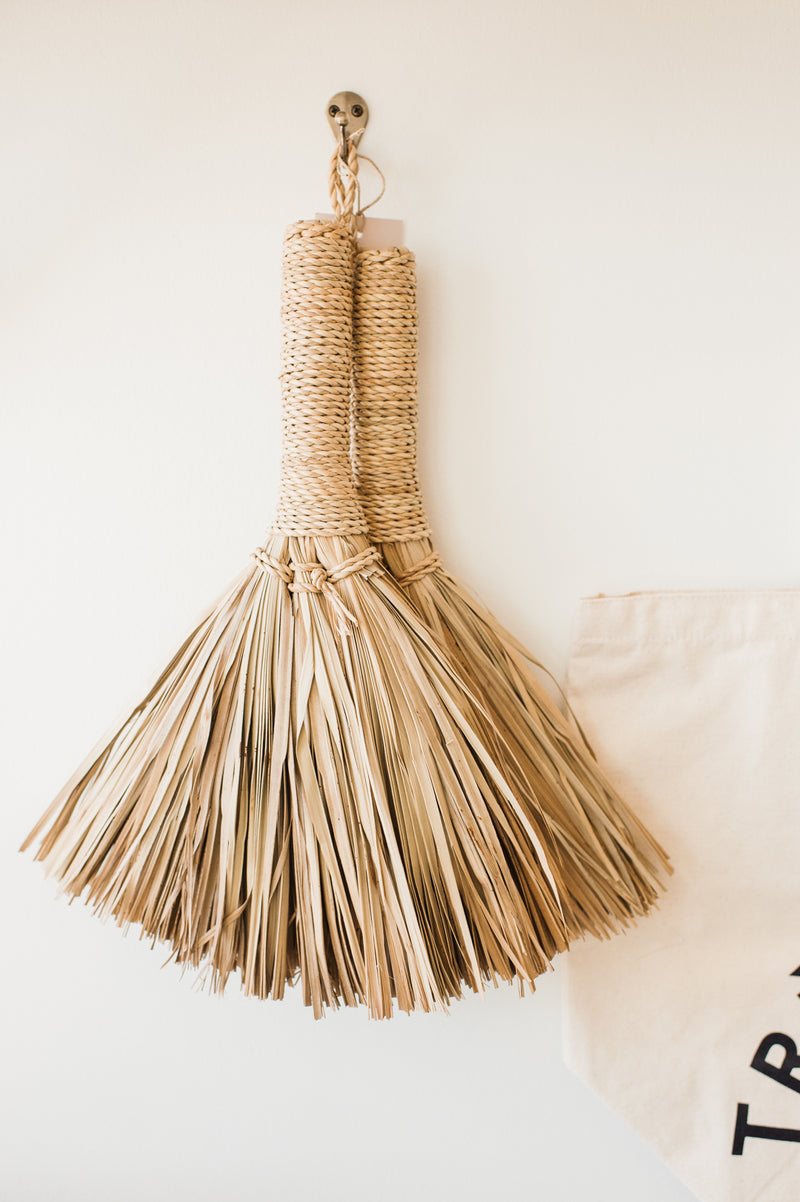 Rustic Straw Broom