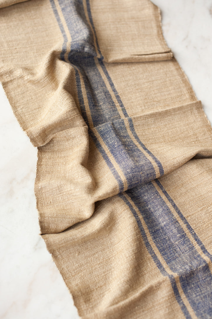 Saharan Silk Table Runner - Blue Stripe