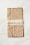 Saharan Silk Table Runner - White Stripe