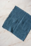 Stonewashed Linen Cocktail Napkin - Blue