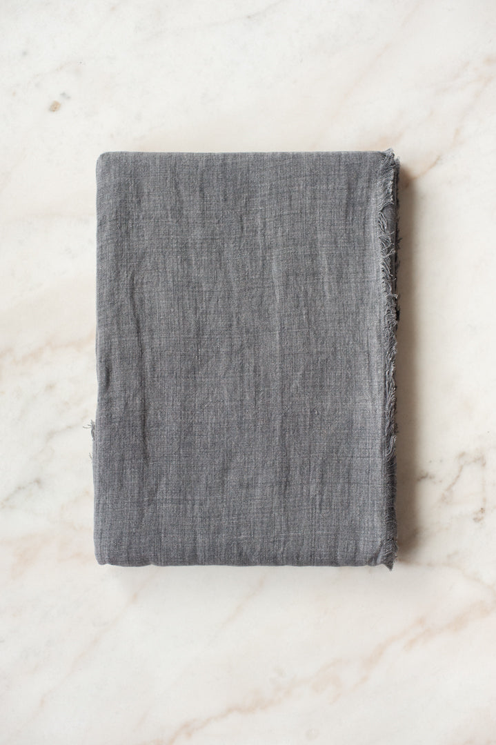 Stonewashed Linen Tablecloth - Grey