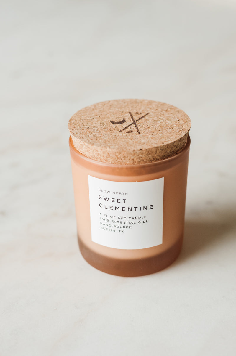 Sweet Clementine Candle by Slow North