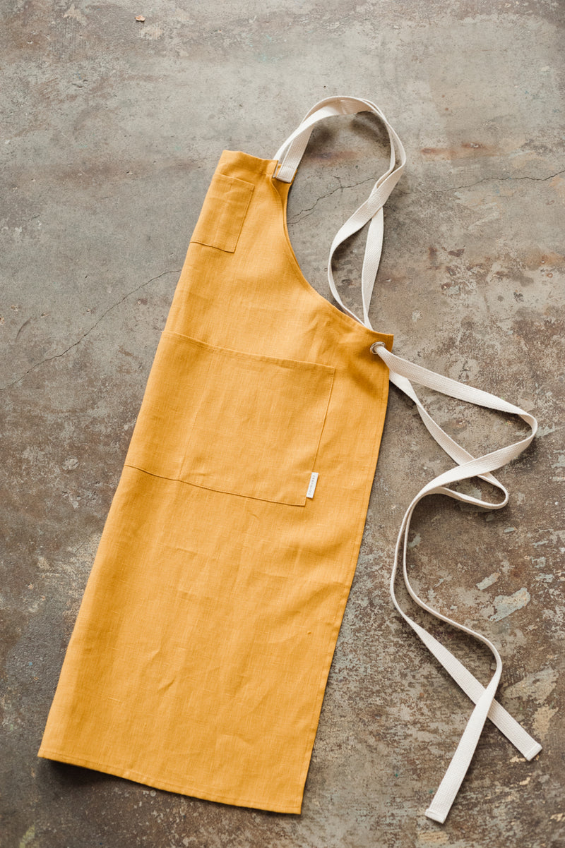 Full Linen Apron - Autumn