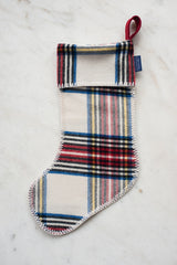 Stewart Plaid Stocking - White