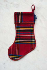 Stewart Plaid Stocking - Red