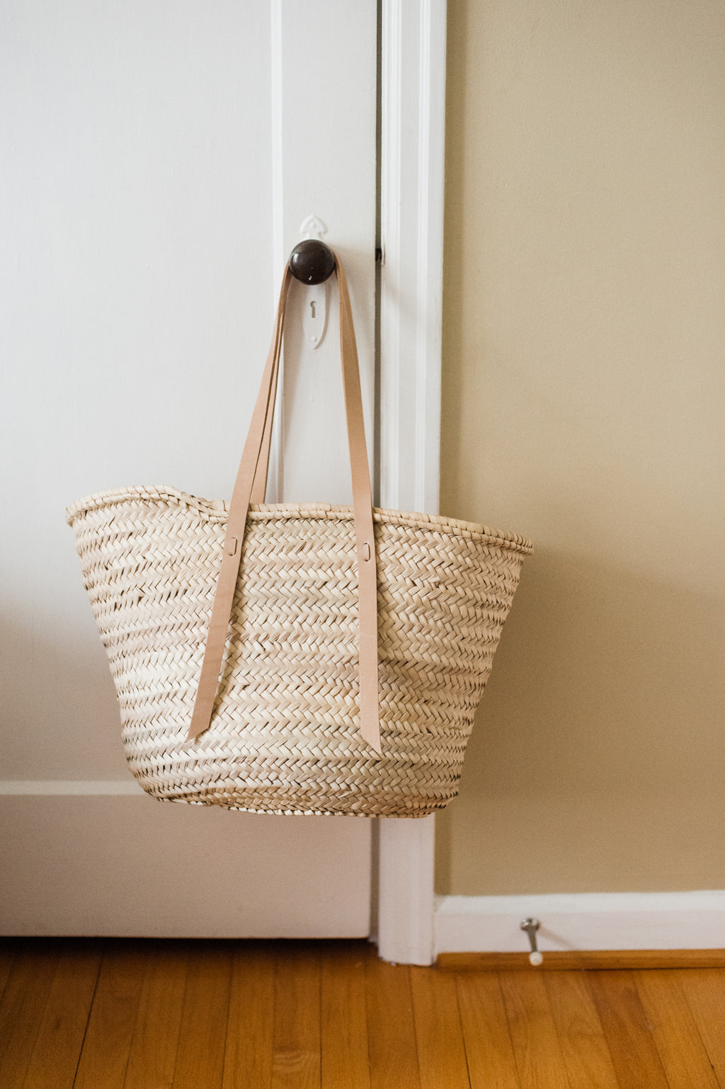 Venice Straw French Basket