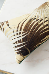 Mellow Yellow Palm Lumbar Pillow Cover - Hudson Louie