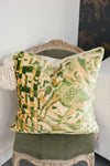 Mosaic Velvet - Camel Facing Right Pillow by Hudson Louie