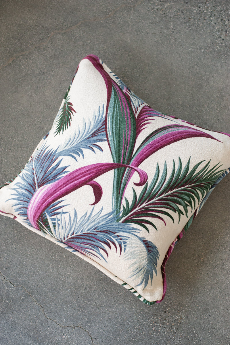 Blue Palms Pillow Cover - Hudson Louie