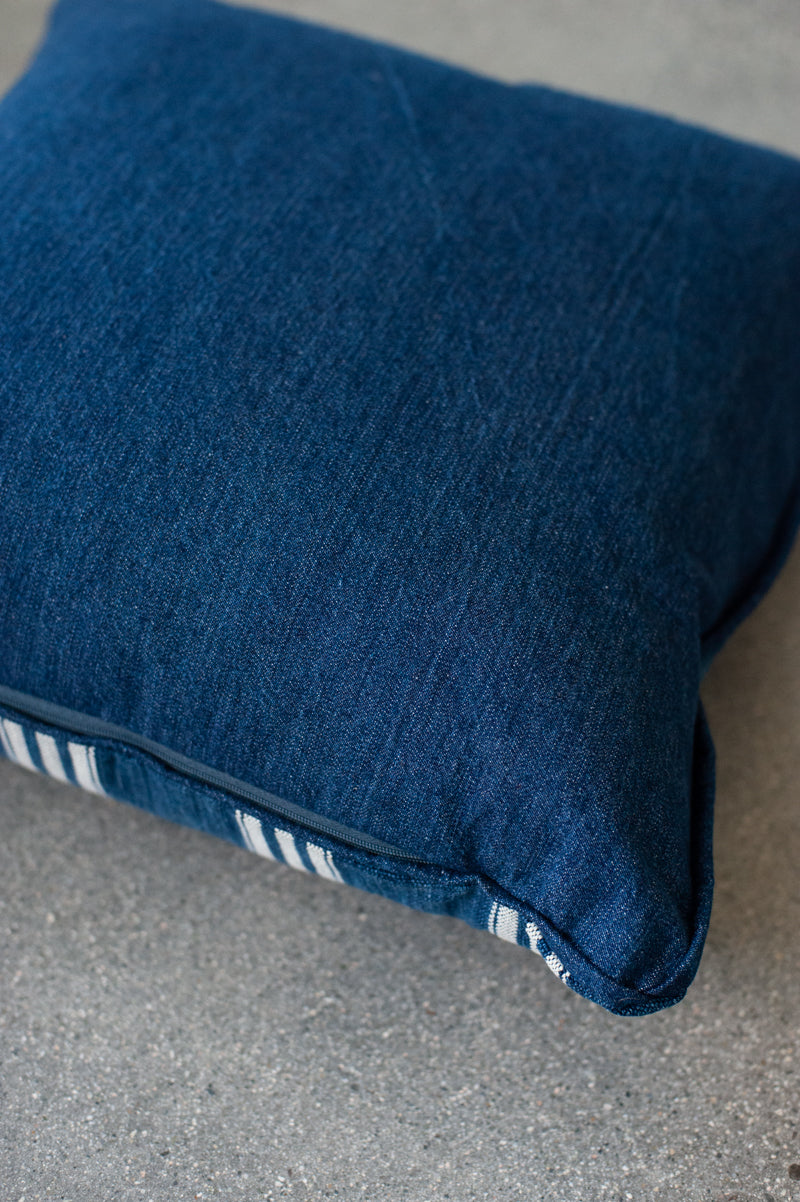 Indigo Plaid Pillow Cover - Hudson Louie