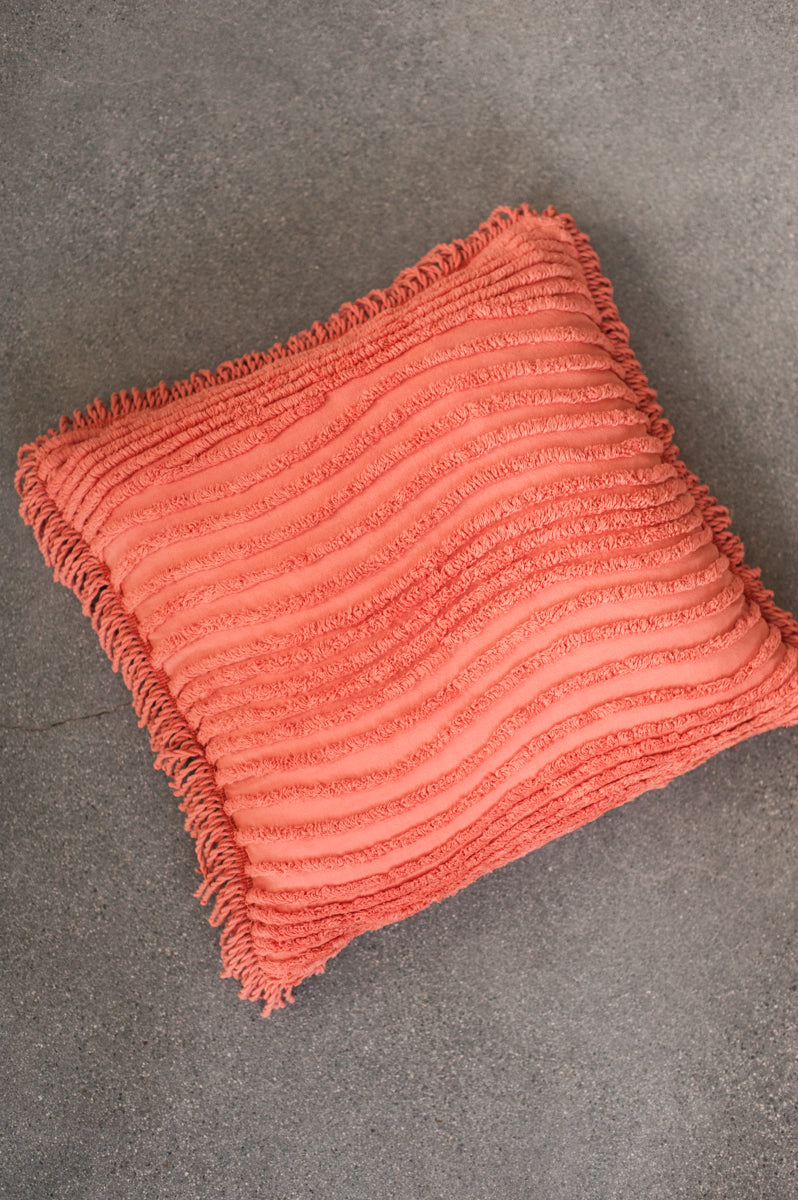 Diamond Pillow Cover - Washed Sienna I