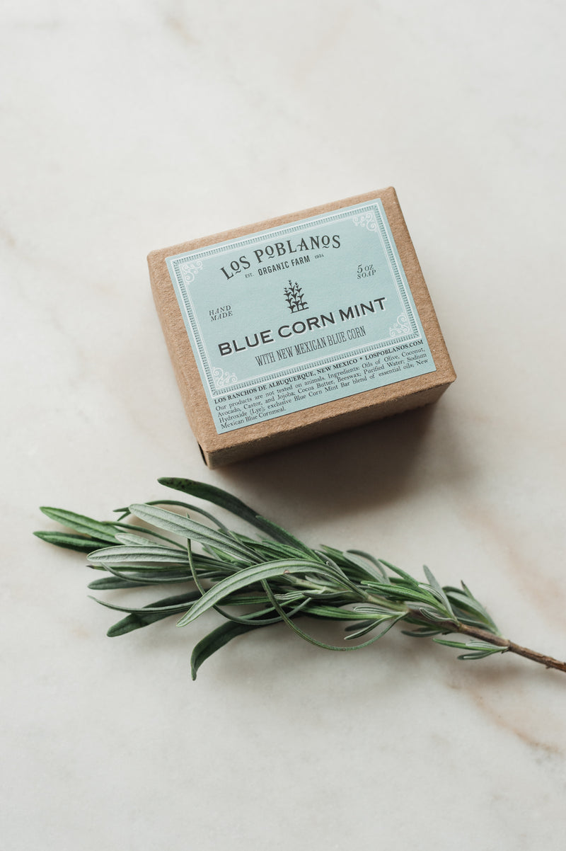 Los Poblanos Blue Corn Mint Soap