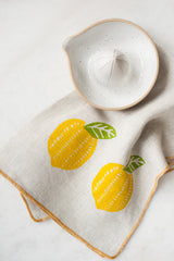 Lemon Linen Tea Towel