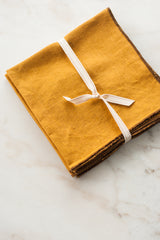 Linen Napkin in Warm Gold (Set of 4)