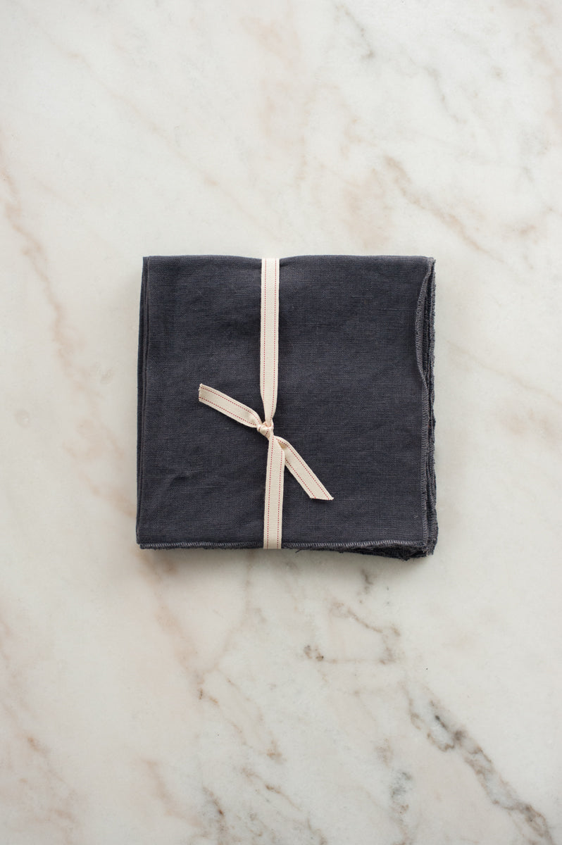 Linen Napkin in Storm (Set of 4)