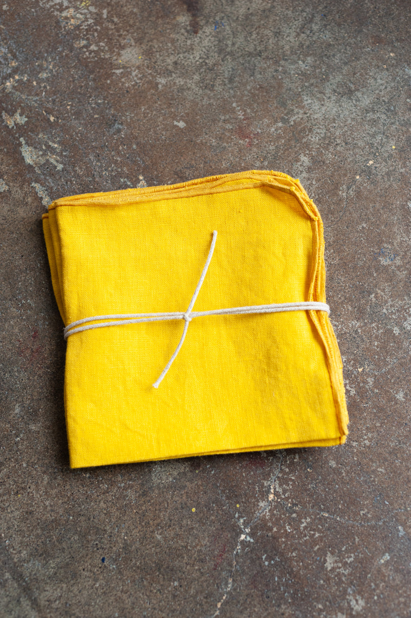 Linen Napkin in Lemon Yellow (Set of 4)