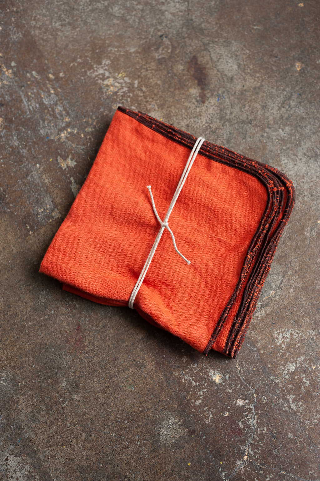 Linen Napkin in Rust (Set of 4)