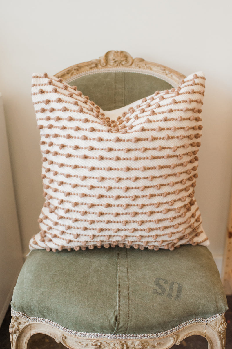 Gastown Wool Pillow Cover - Caramel
