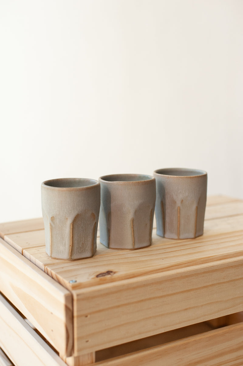 Farmhouse Faceted Tumbler - Stone