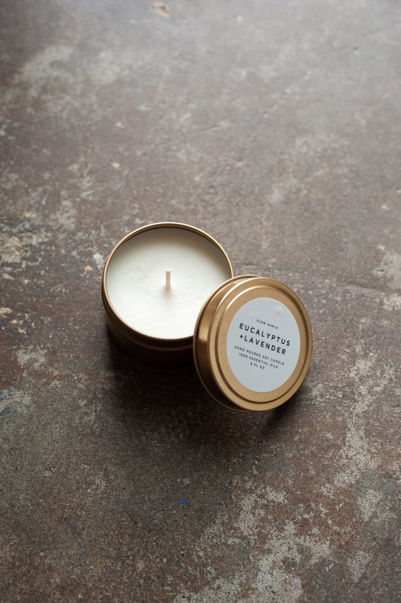 Eucalyptus Lavender Travel Candle by Slow North