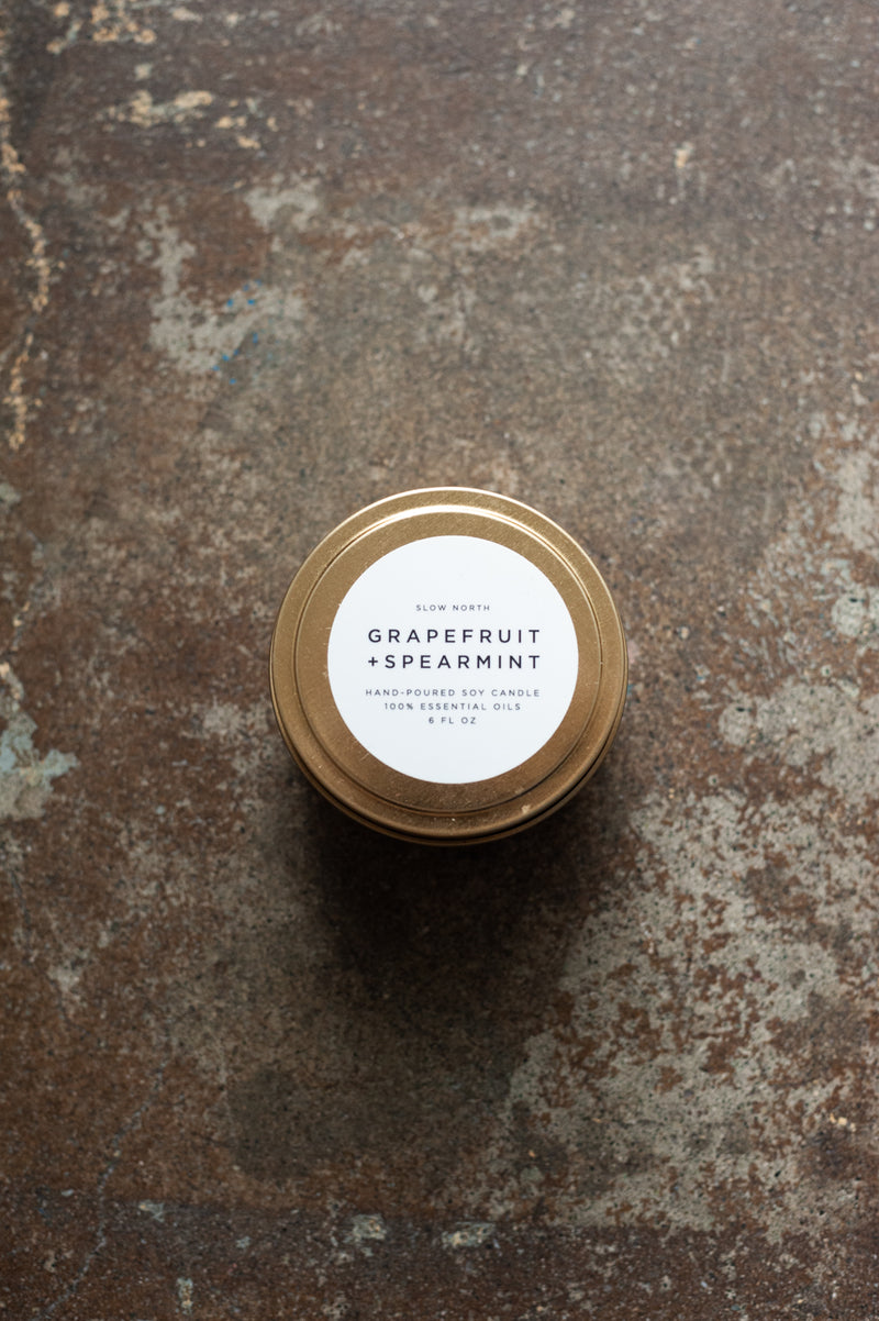 Grapefruit & Spearmint Travel Candle by Slow North