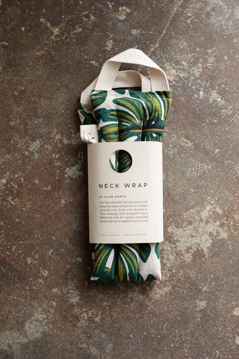 Tropical Monstera Neck Wrap by Slow North