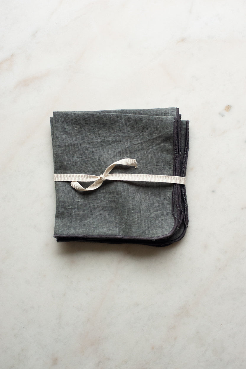 Linen Napkin in Stone Grey (Set of 4)